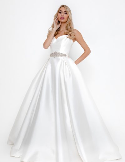 Lydia dress Aria belt Pink Confetti